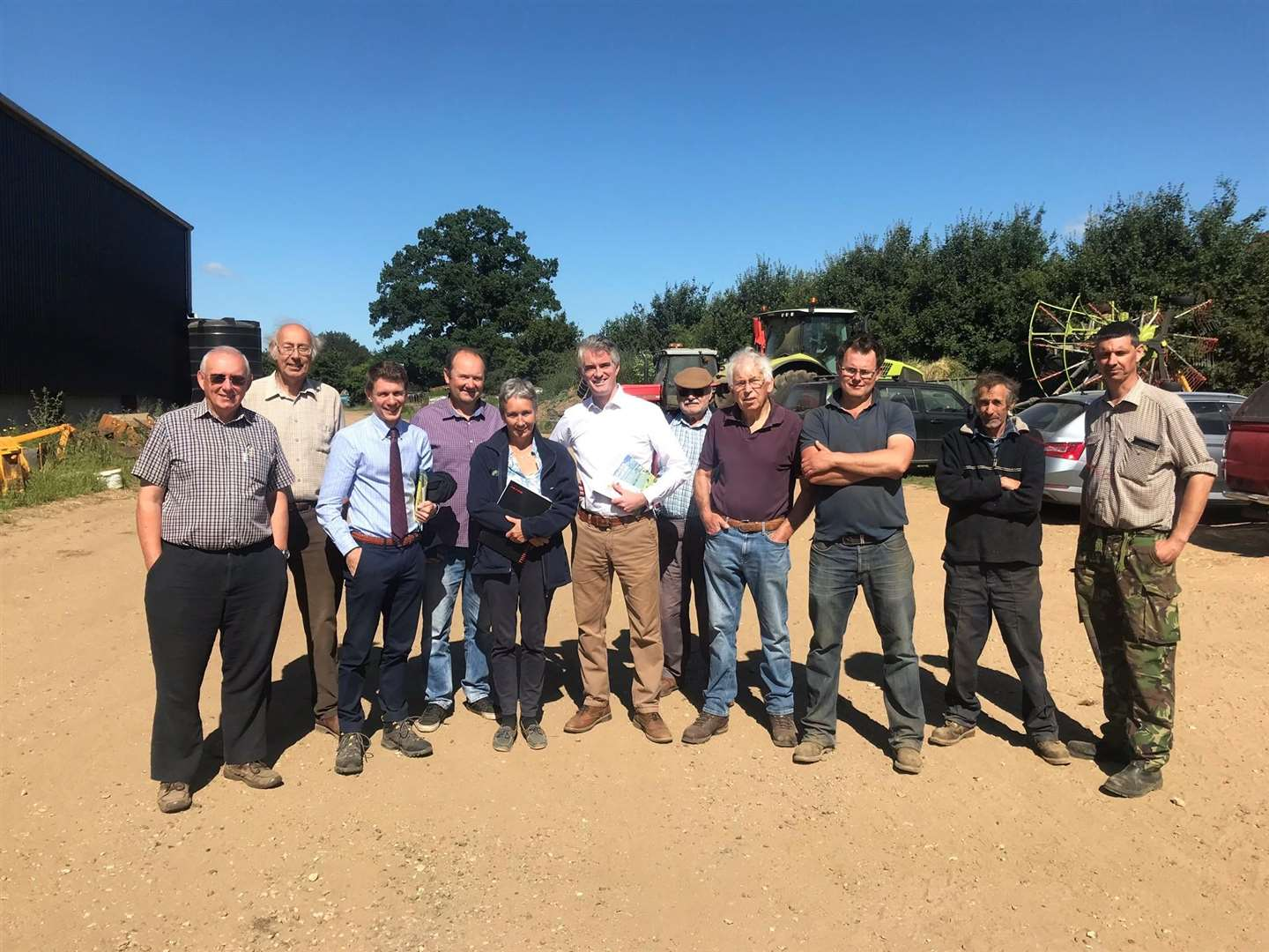 James Cartlidge, the MP for South Suffolk, meets members of the National Farmers Union (NFU) in Polstead. (4575930)
