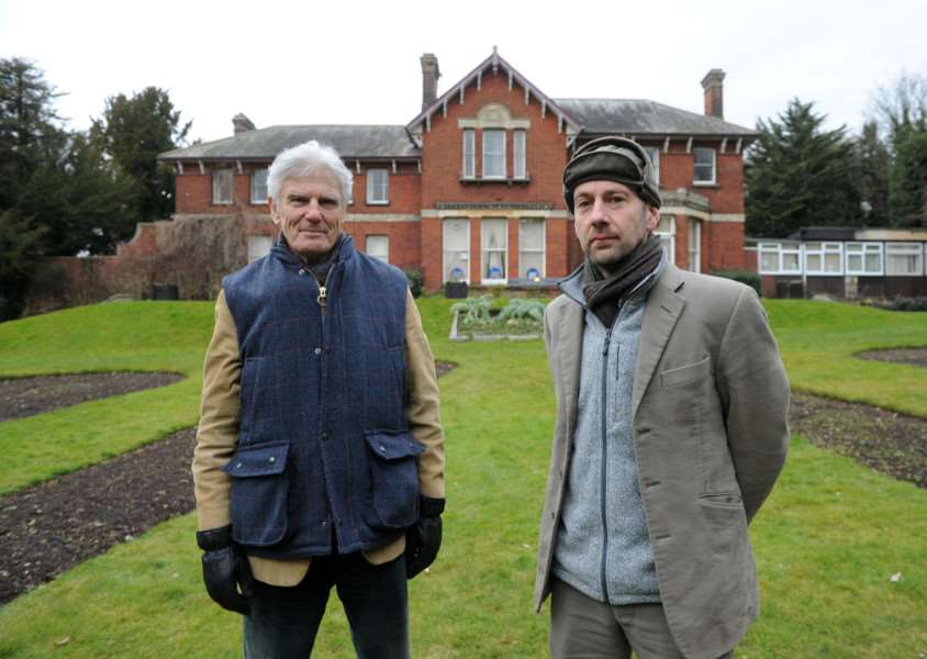 Andrew Phillips, Lord Phillips of Sudbury and Theo Bird outside Belle Vue House ANL-160903-064902009