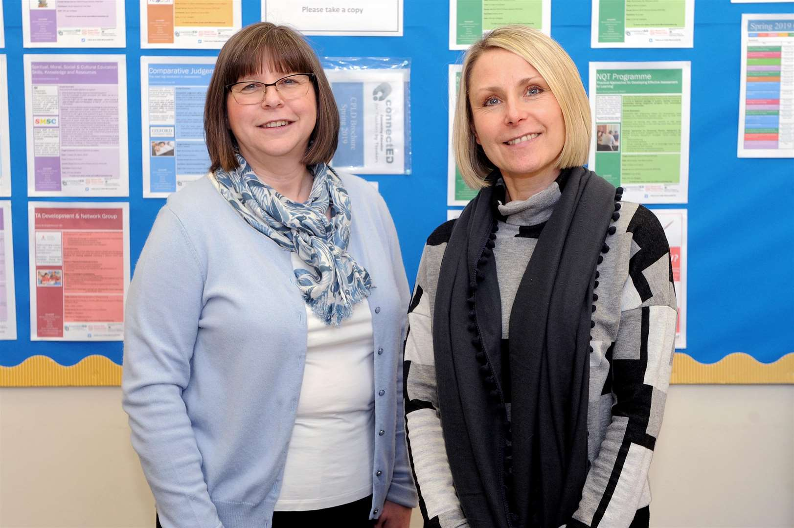 Jacqui Watkins, director of ConnectED Teaching School Alliance and Helen Ashe, headteacher of Barrow Primary. Picture: Mecha Morton.