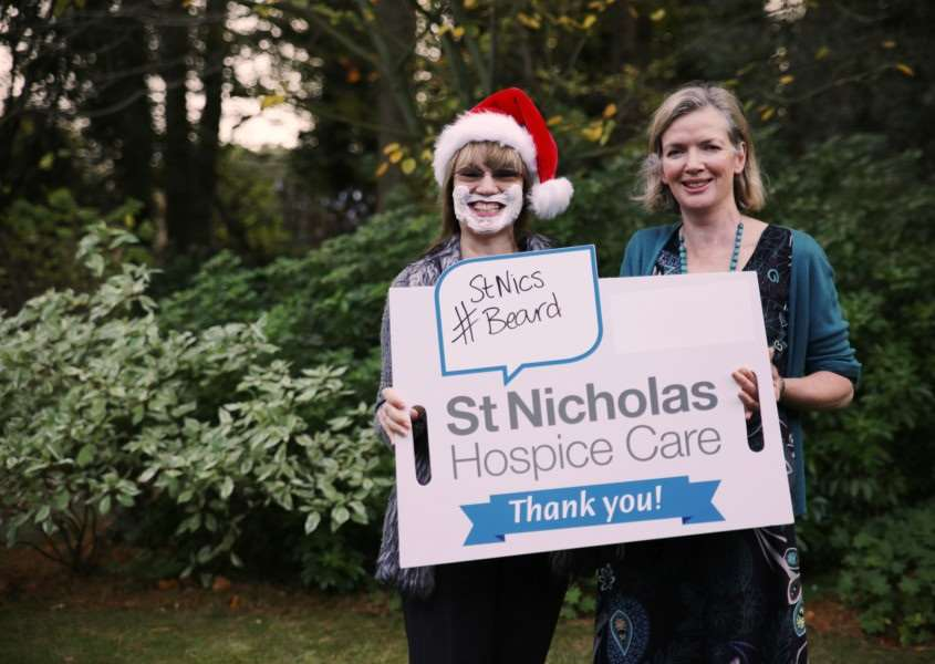 St Nicholas Hospice Care is calling on people to support the #StNicsBeard festive campaign this December by wearing shaving foam beards ANL-151214-104711001