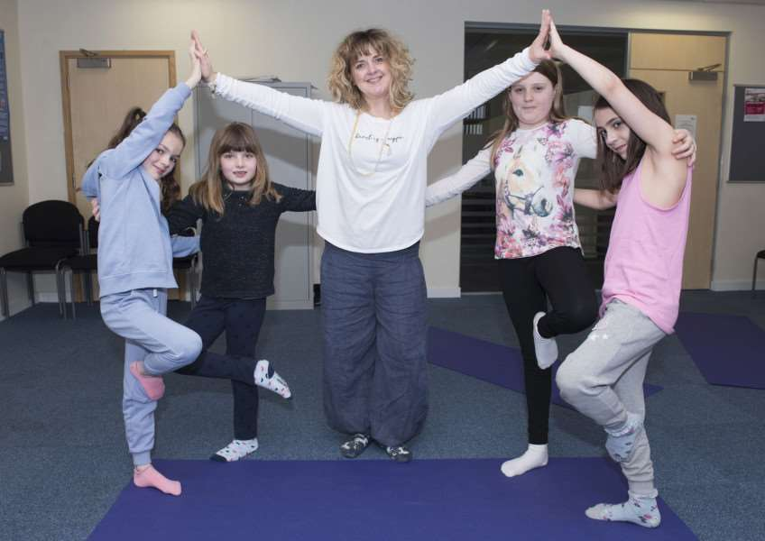 Sarah Jefferys-Emrys Yoga workshop for youngsters Picture Mark Westley