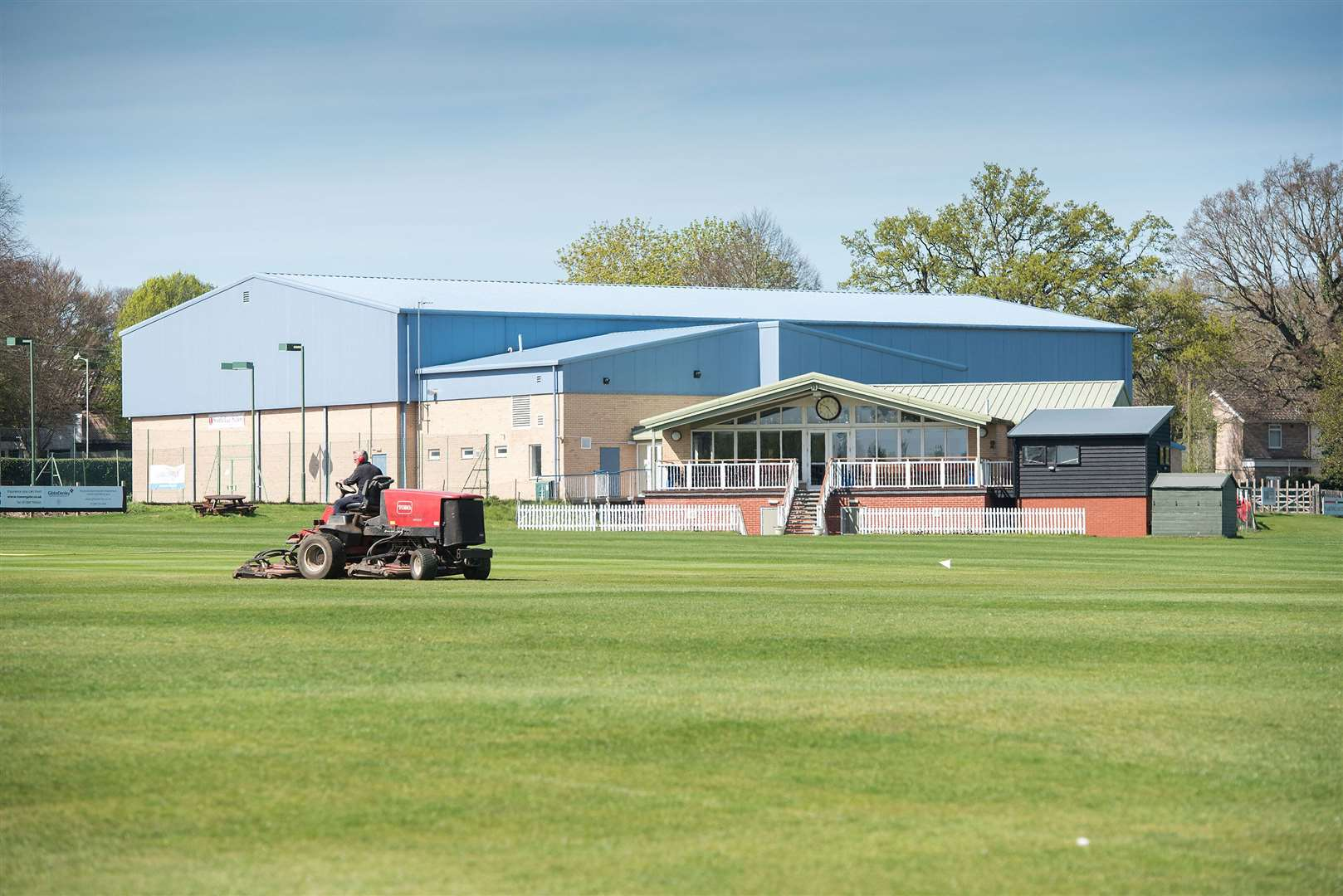Preparations are well under way at Bury St Edmunds Cricket Club's Victory Ground base for the return of competitive action later this month Picture Mark Westley