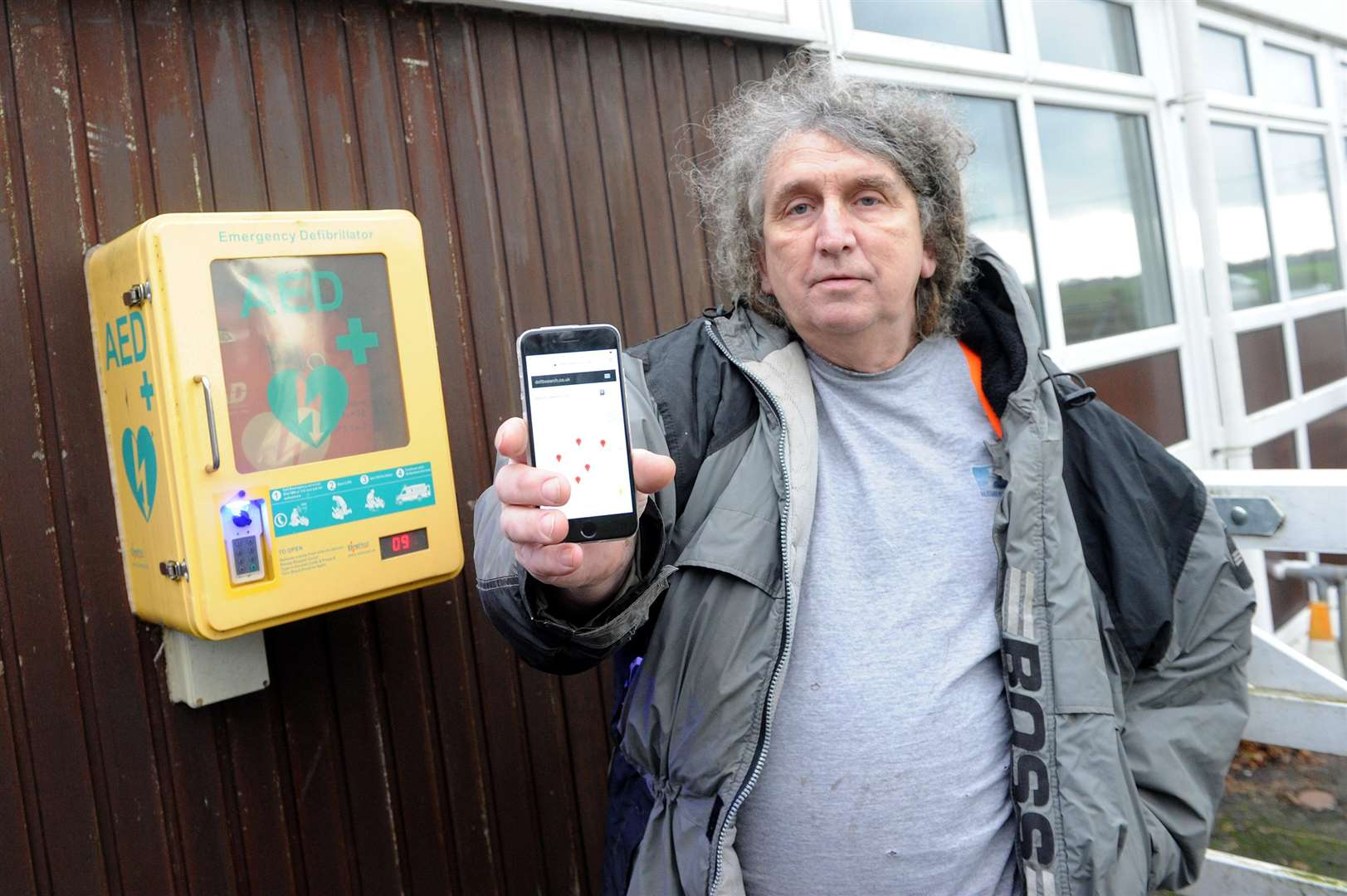 Simon Herbert has set up a website so that you can locate the exact location of a defibrillator in East Anglia. PICTURE: Mecha Morton.