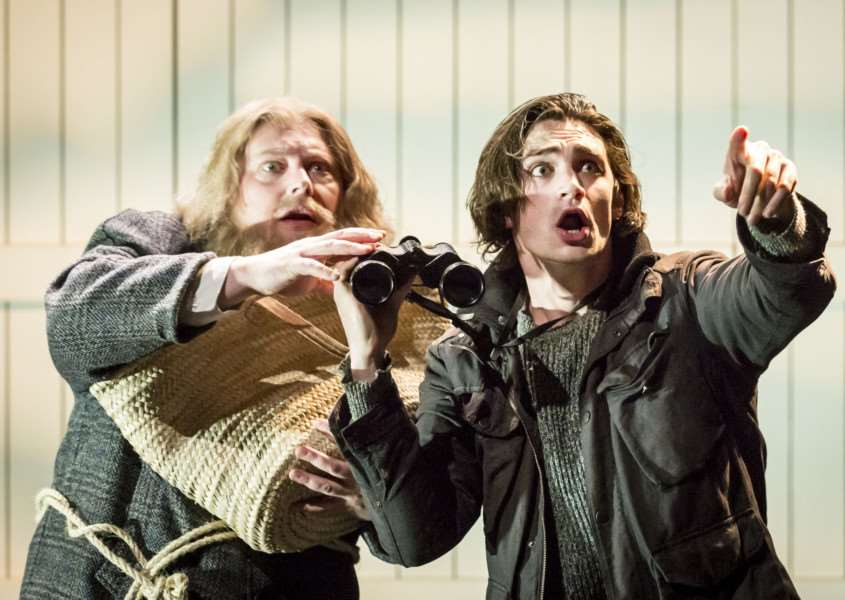 Peter Moreton and Sam McArdle in A Winter's Tale. Photo Johan Persson ANL-171201-142901001