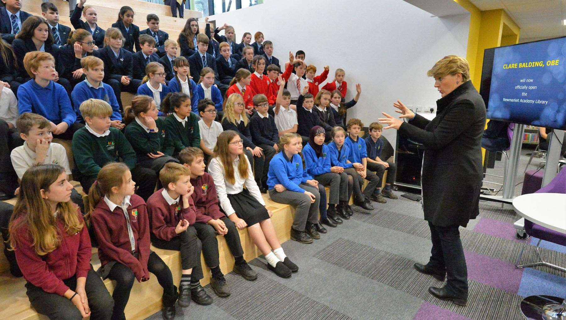 Clare Balding opens Newmarket Academy's state-of-the art new library (24980824)