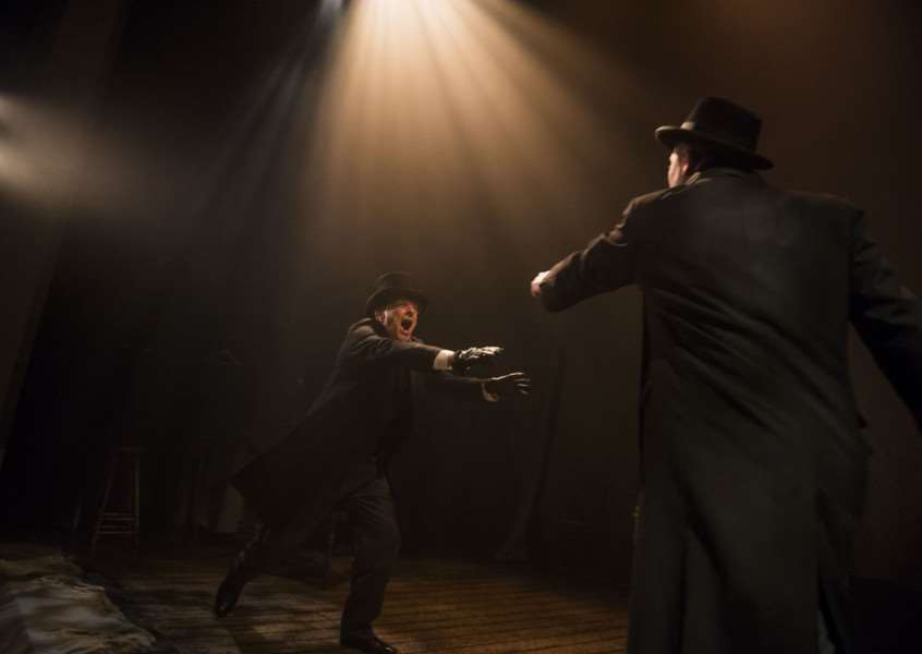 A scene from The Woman In Black by Susan Hill @ Fortune Theatre. Directed by Robin Herford'(Taken 26-07-16)'?Tristram Kenton 07/16'(3 Raveley Street, LONDON NW5 2HX TEL 0207 267 5550 Mob 07973 617 355)email: tristram@tristramkenton.com ANL-160915-153733001
