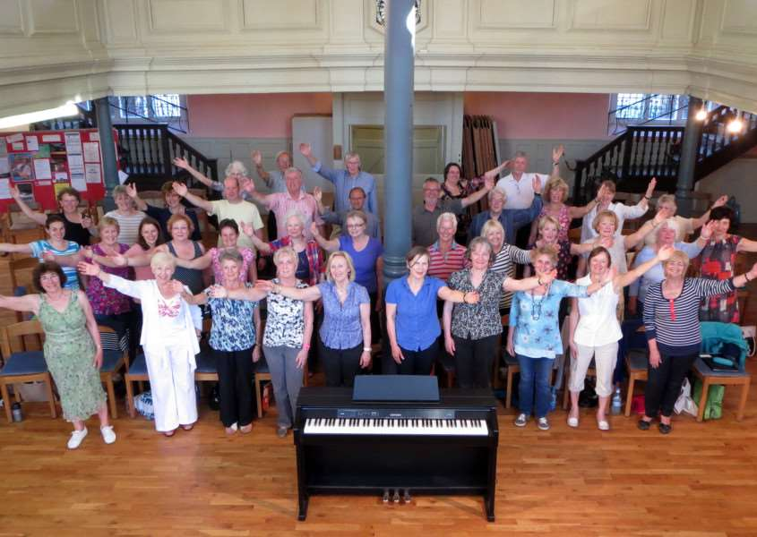 VivaVoices Choir which has helped raise �1,315 for Macmillan Support