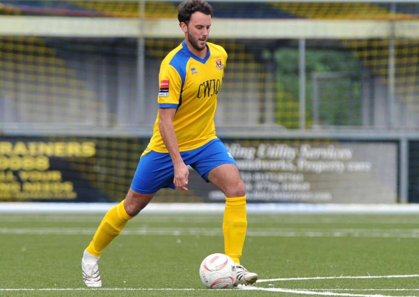 OFF THE MARK: James Baker got his first of the season for AFC Sudbury at the weekend Picture: Mecha Morton