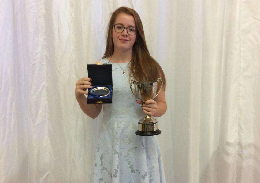 Katherine Mcleod, of Great Cornard, was voted the 2016/17 Student of the Year at Otley College.