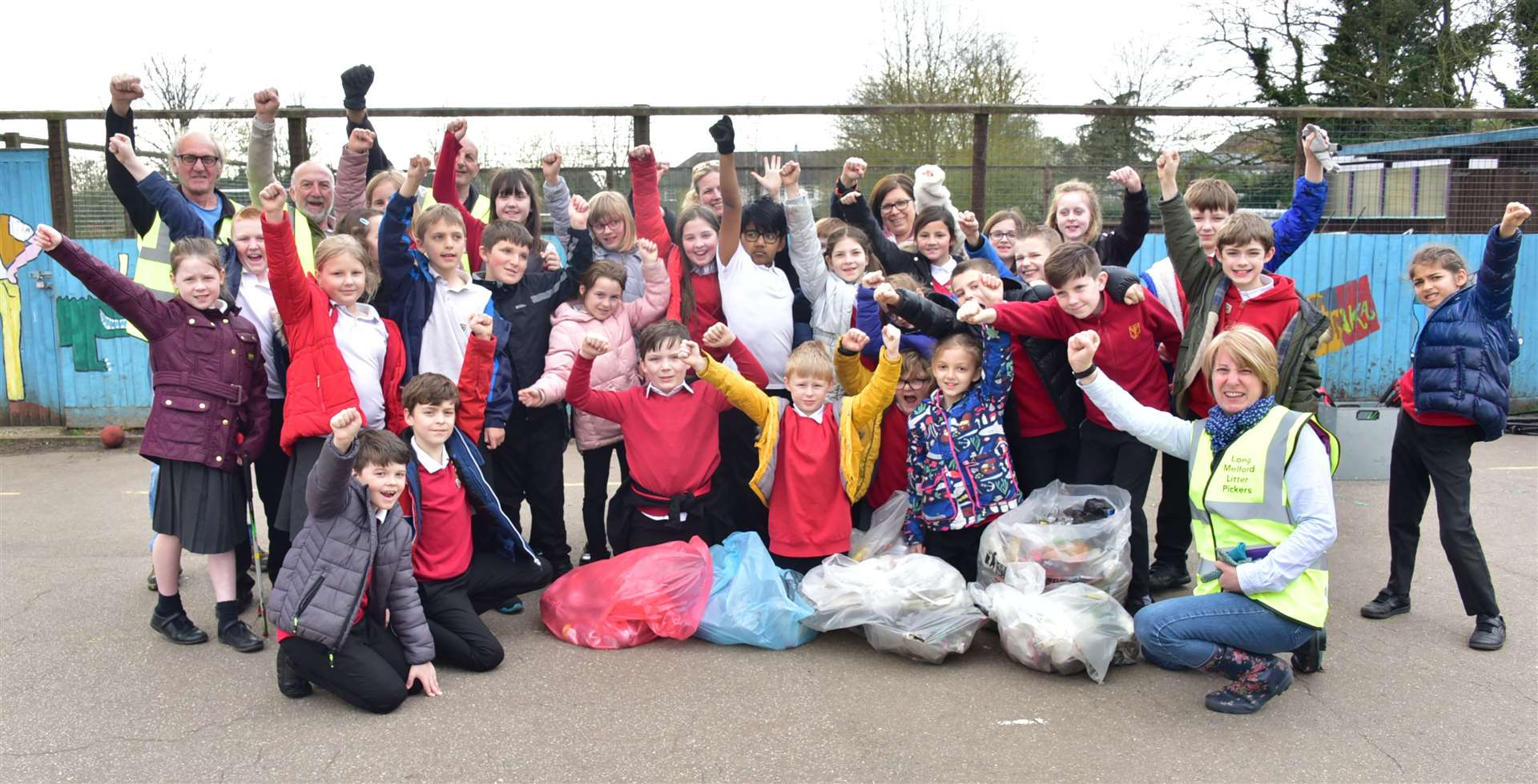 Long Melford Primary School pupils join the Long Melford Litter Pickers for the Great British Spring Clean on March 28, 2019. Photo by Steve Thomson. (8149469)