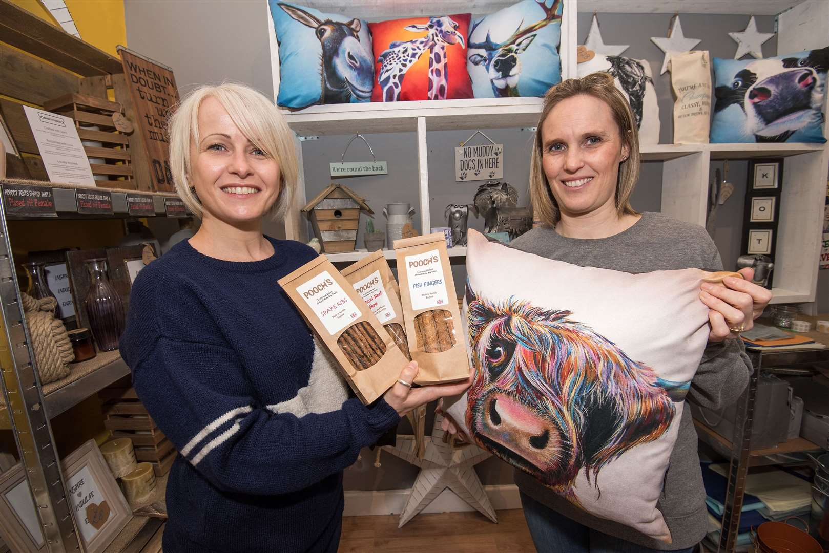 Bev and Tamara share some of the interesting items found inside their shop Koti