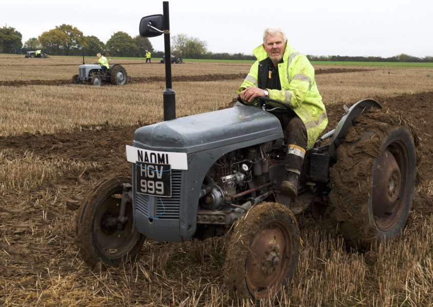 Stanningfield, Suffolk. Barry Colson held a vintage tractor run earlier this year from Fort William to Bury in aid of Cancer Research UK and The Donkey Sanctuary. He also held a ploughing match to boost funds in Stanningfield. ''Picture: MARK BULLIMORE ANL-161113-203446009