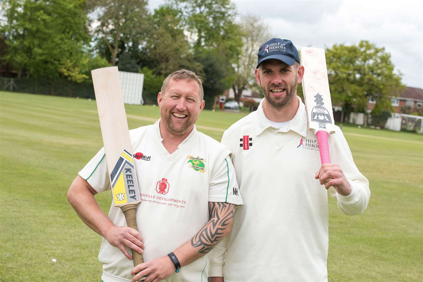 Long Melford Cricket Club is hosting the Help for Heroes cricket teams, which are comprised of former military personnel, for two exhibition games, in order to raise money for the charity. Captains Matt Hoadley and Jason Zawiasa. Picture by Mark Westley. (9755249)