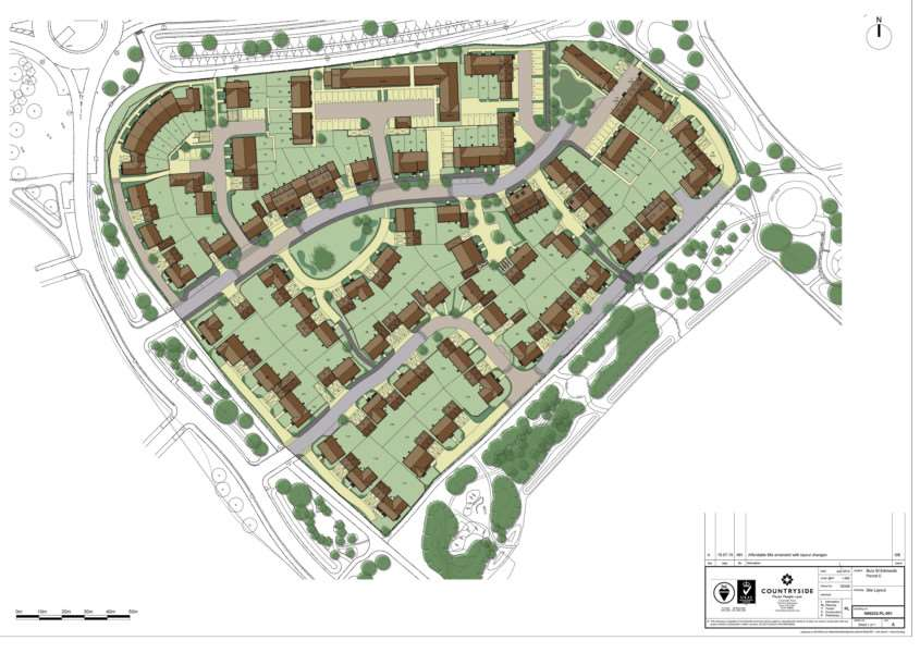 Countryside Properties' plan for thje first phase of housing at Tut Hill ANL-150408-110331001