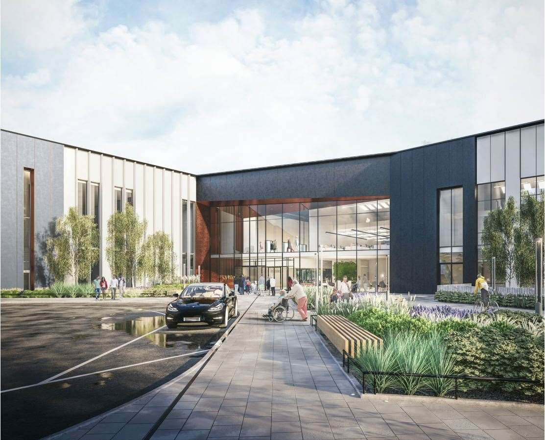 Artist impression images of what the new public services hub in Bury St Edmunds could look like. Picture by West Suffolk Council/Pick Everard