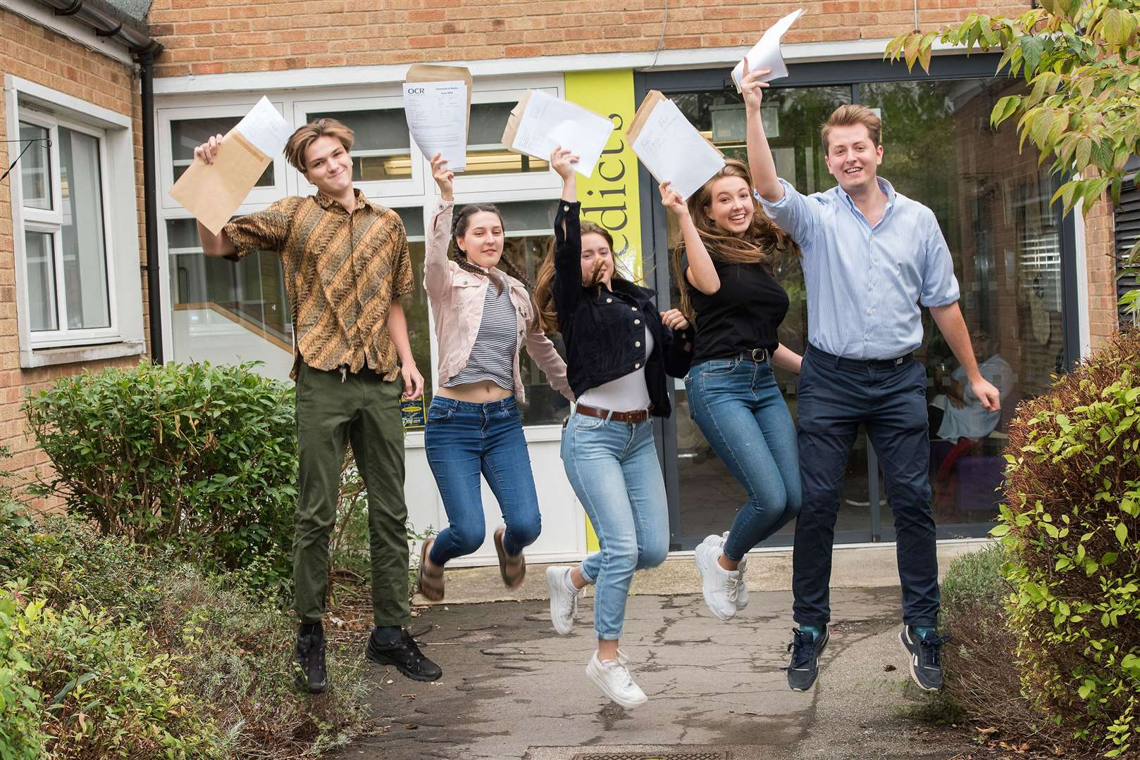 A Level results day at St Benedict's School, in Beeton's Way, Bury St Edmunds Picture by Mark Westley. (15276381)