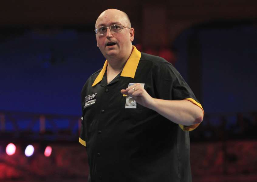 ON THE VERGE: Andrew Gilding is close to securing a place at the World Darts Championships. PICTURE: PDC