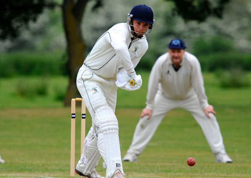 AWAY LOSS: Richard Ford top scored for Worlington at Haverhill