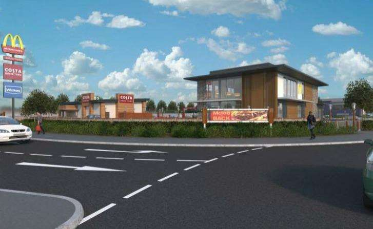 The proposed McDonald's in Newmarket's Willie Snaith Road.