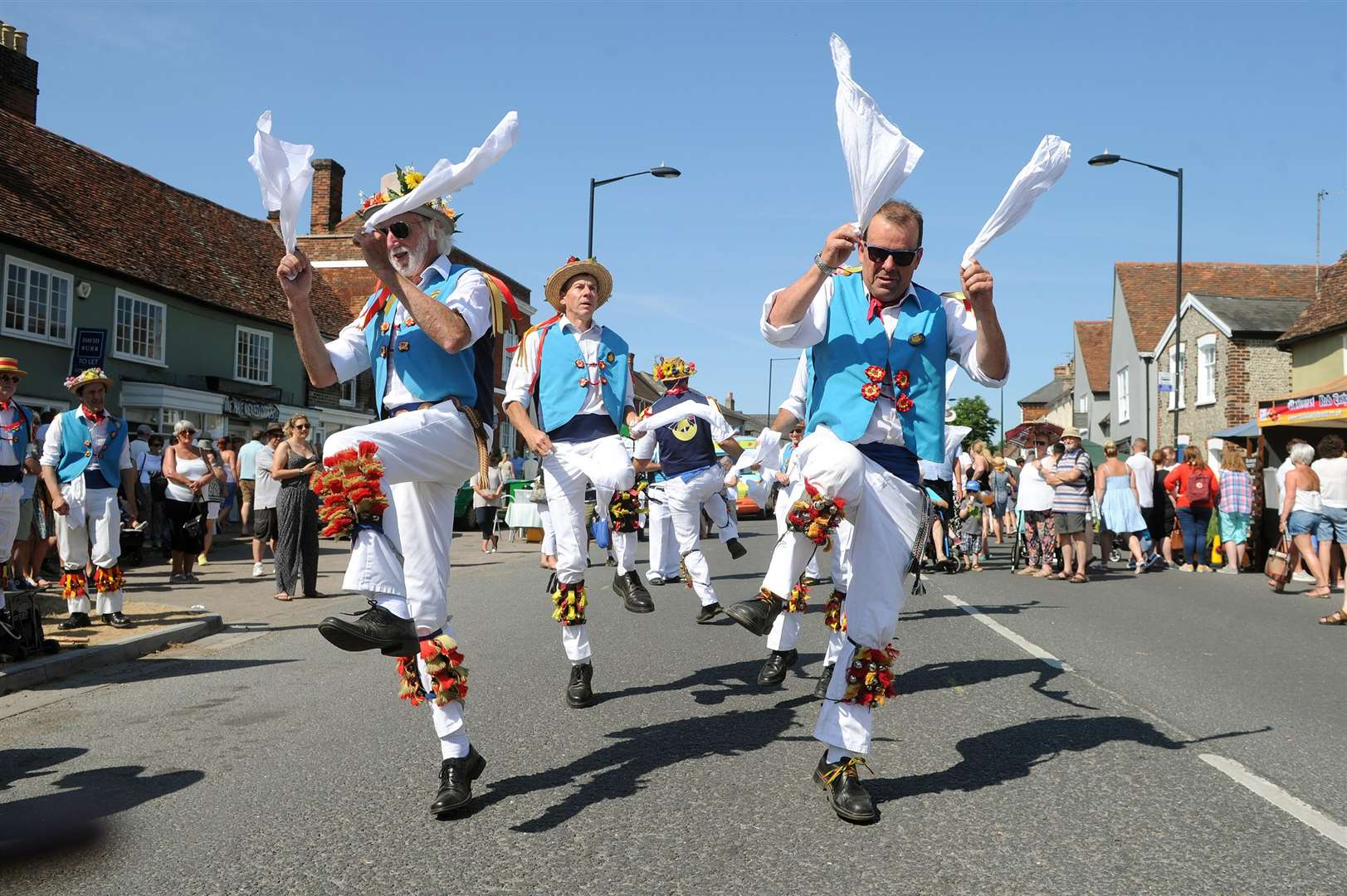 Long Melford Street Fair..Pictured: East Suffolk Morris Men... PICTURE: Mecha Morton. .. (2807992)