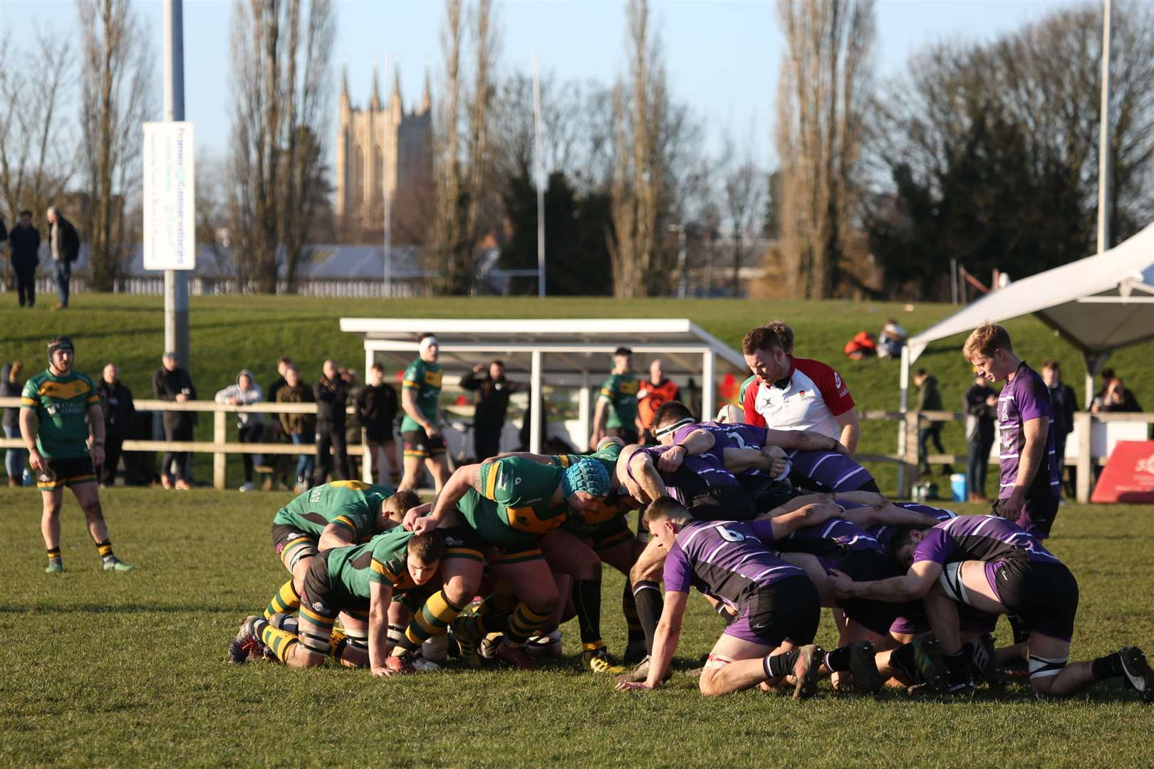 Bury St Edmunds rugby v Leicester Lions - scrum timePicture: Shawn Pearce (28835924)