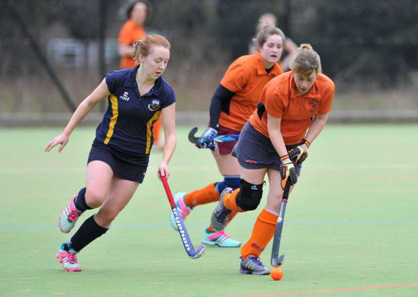 DISAPPOPINTING DEFEAT: Bury St Edmunds Ladies II ,pictured in action against UEA earlier this season, fell to a 2-0 defeat against IES at the weekend