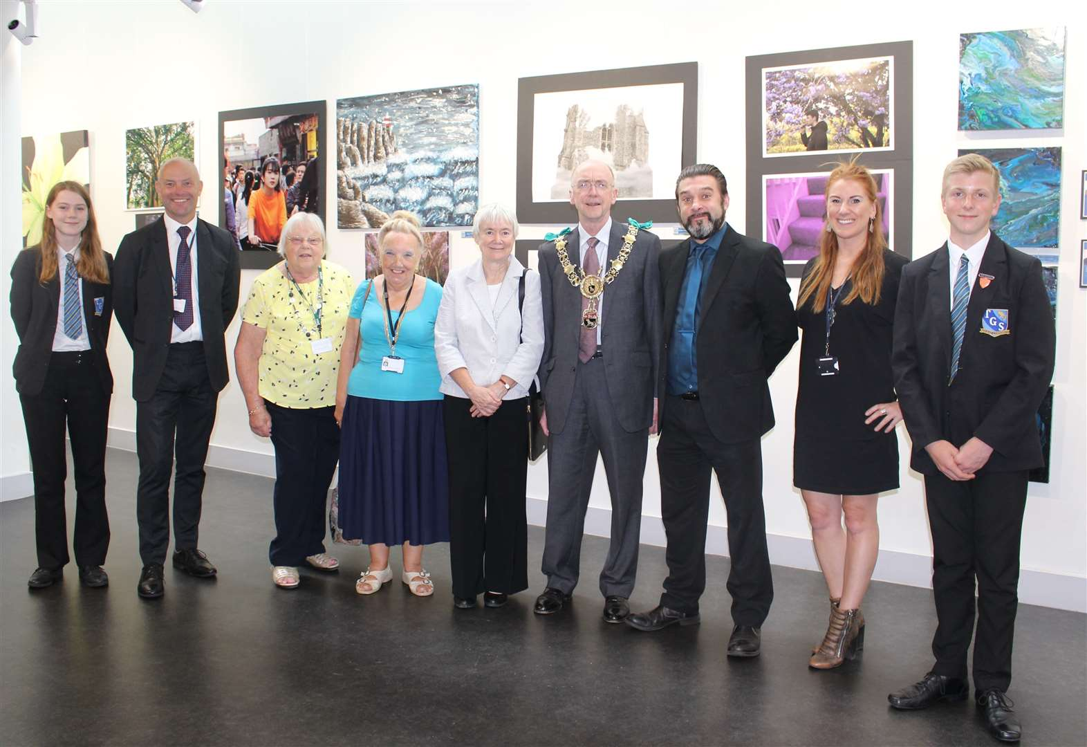 Art showcase at Thomas Gainsborough School hailed by mayor of Sudbury