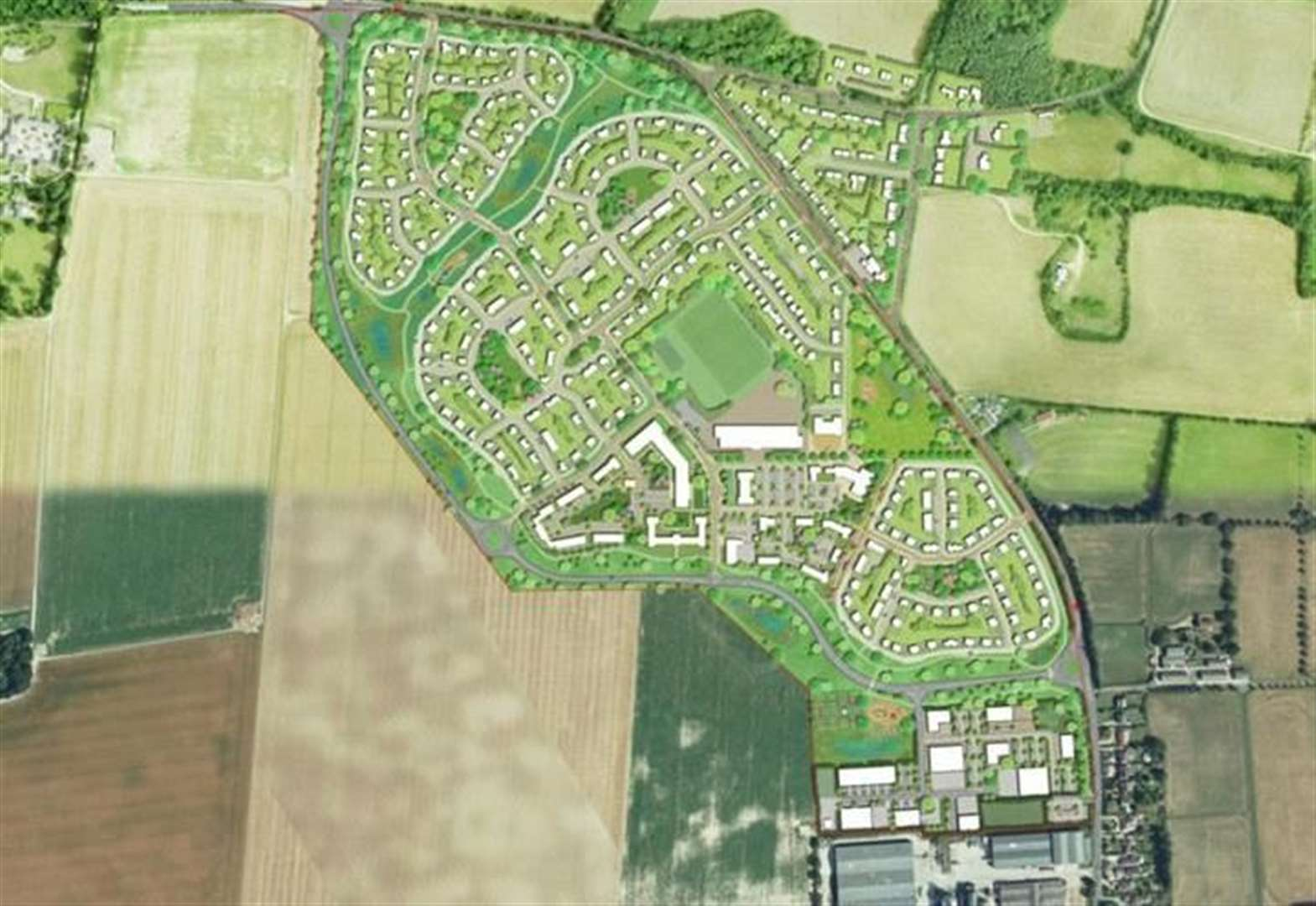 Villagers 'ready to fight' district's 500 home estate plan