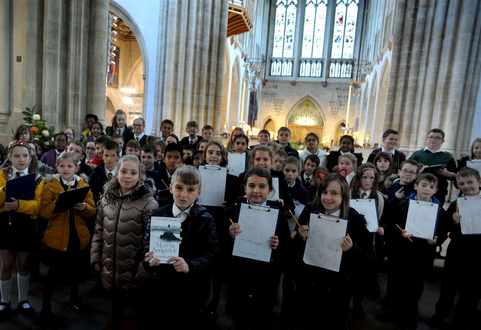 Pupils visit cathedral to help with English