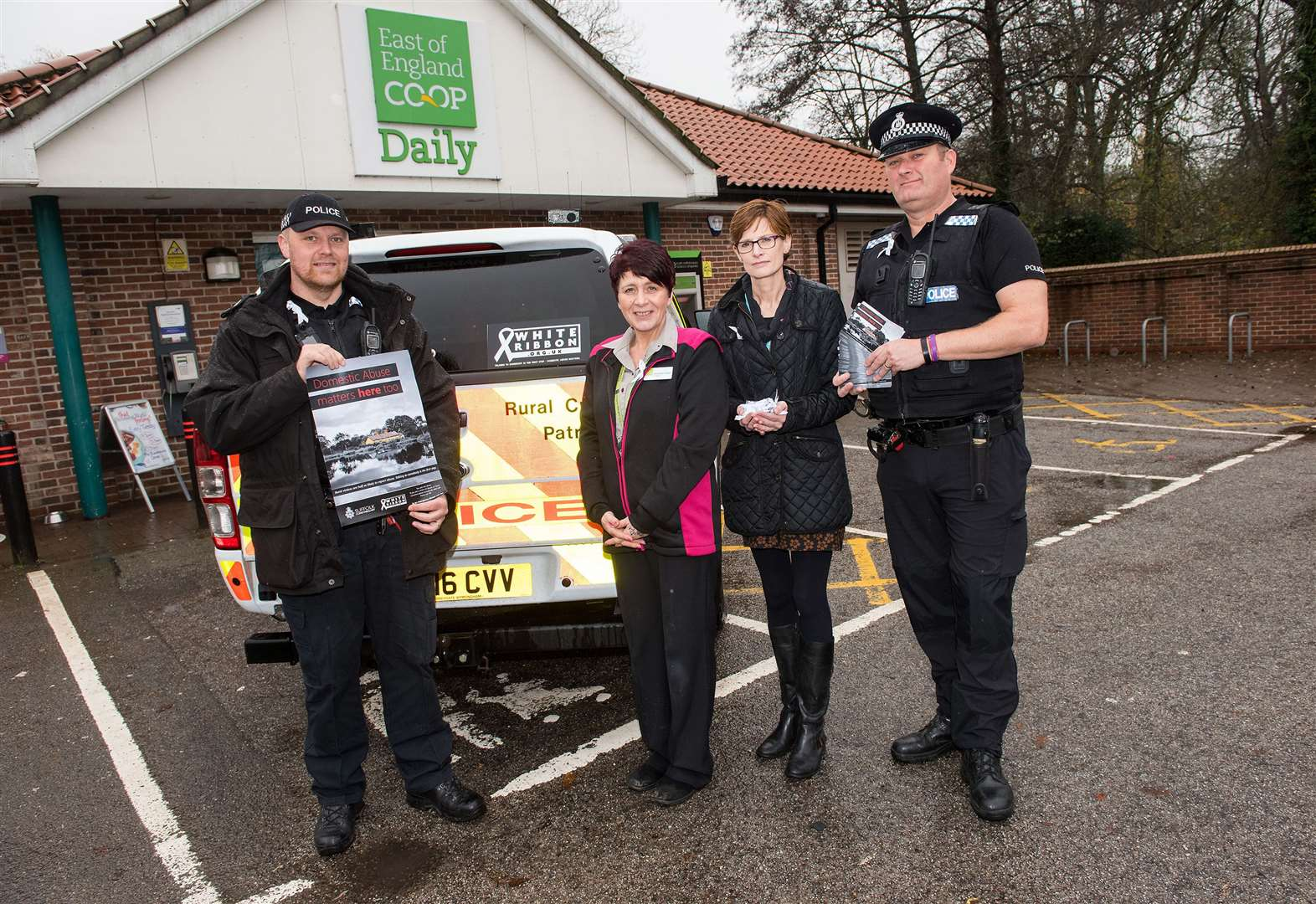 Police and refuge support White Ribbon campaign