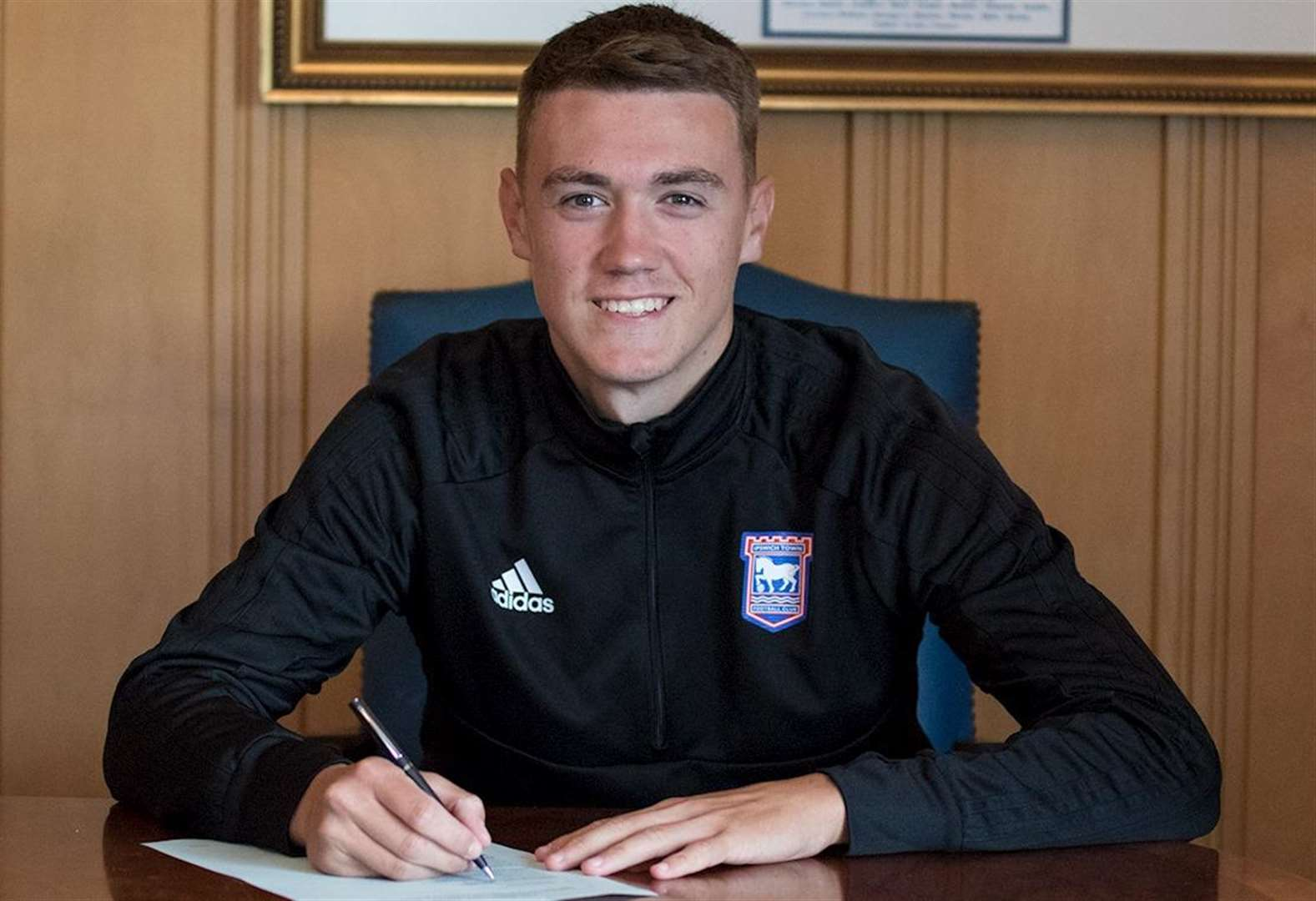 Bury boy Lankester signs pro deal at Ipswich Town