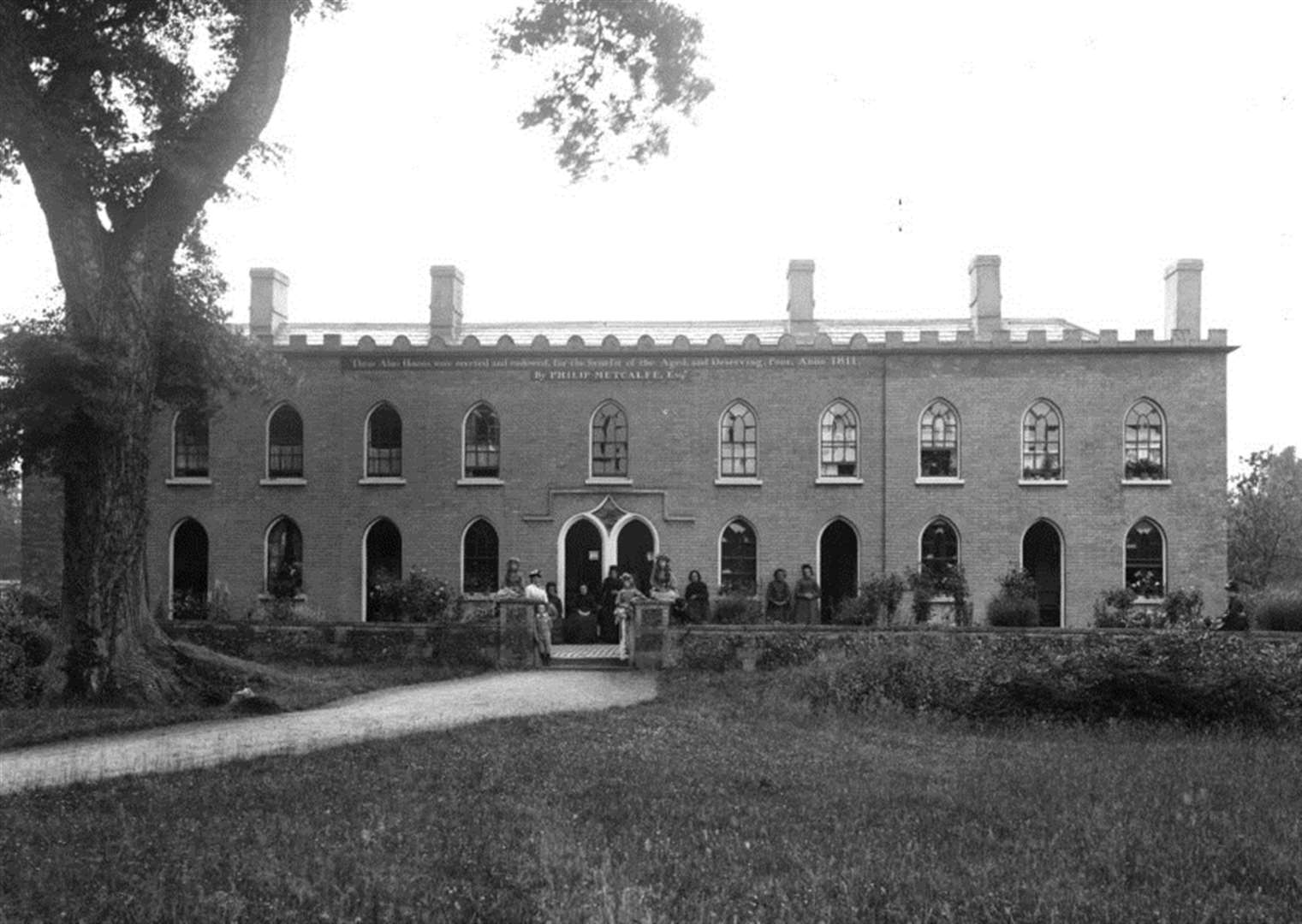 NOSTALGIA: Almshouses at Hawstead – from the Spanton Jarman collection