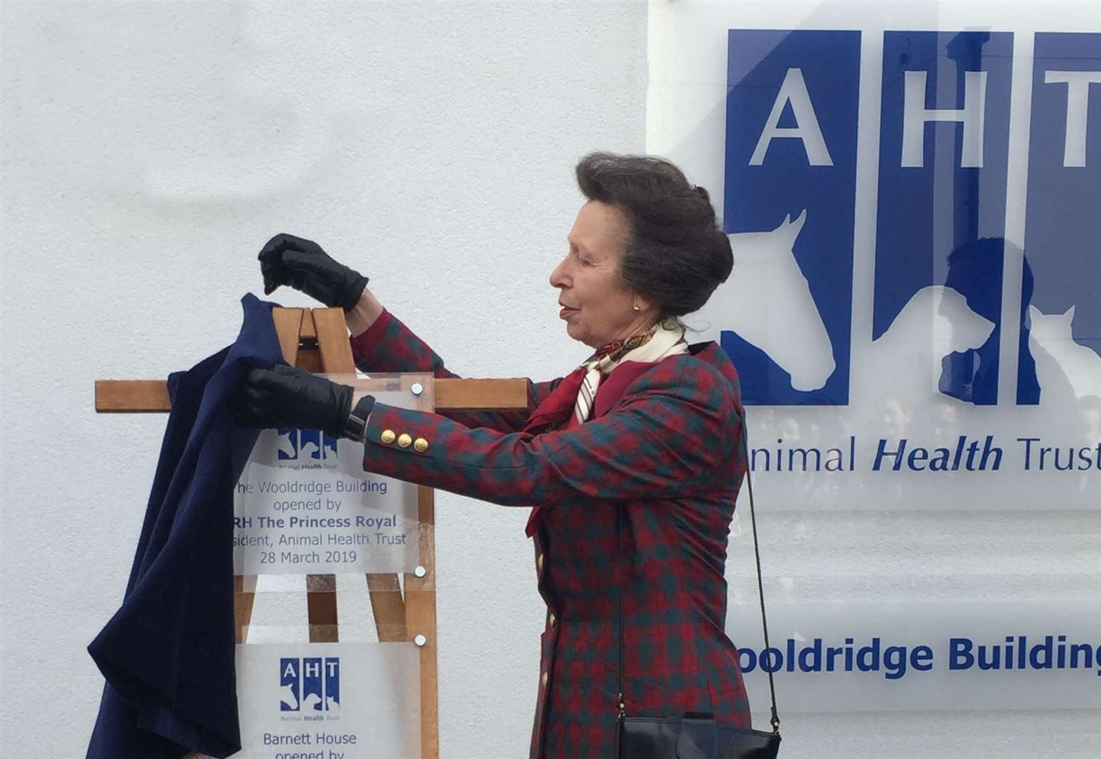 Princess Anne opens equine charity's head office