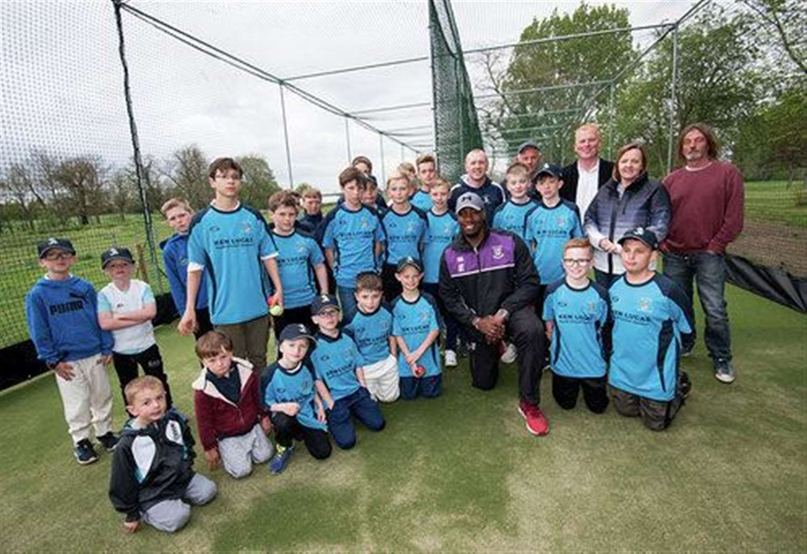 Ex-England cricketer opens Worlington's new net facility