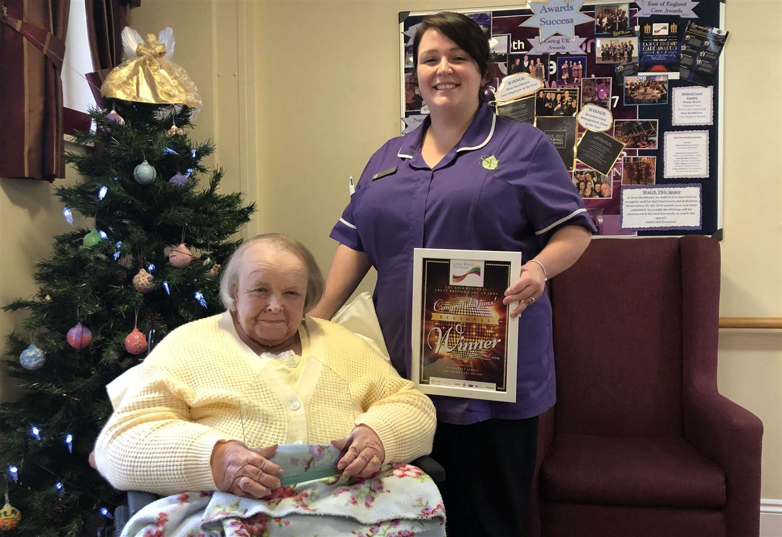 Long Melford care home assistant scoops regional award