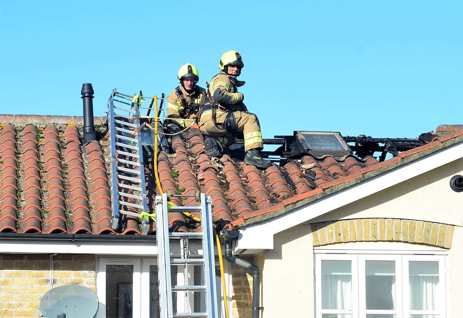 Firefighters stop Burwell blaze spreading to other houses