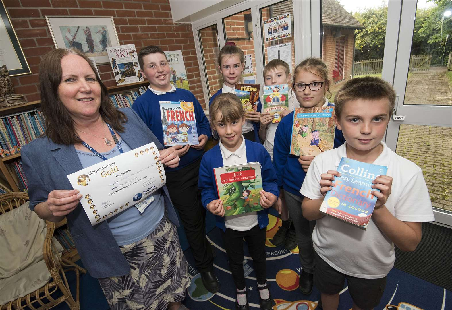 Stoke-by-Nayland school reaches gold standard for foreign language education