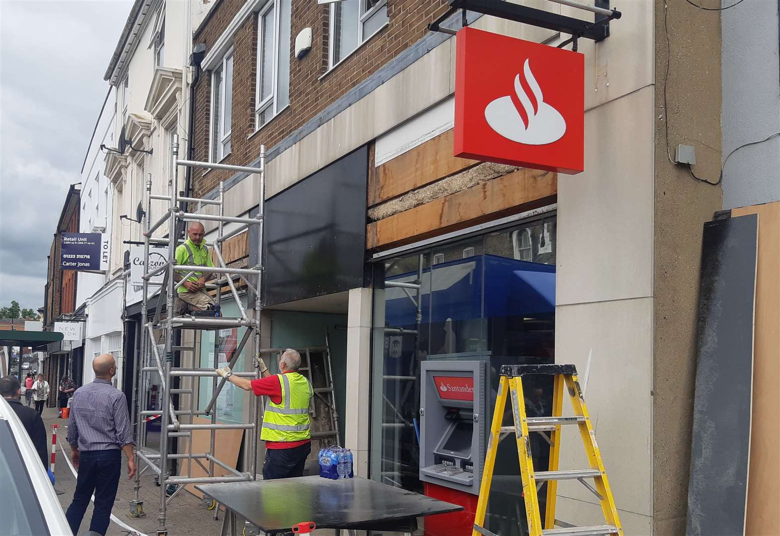 Newmarket's Santander shuts as plans submitted to build flats at the unit