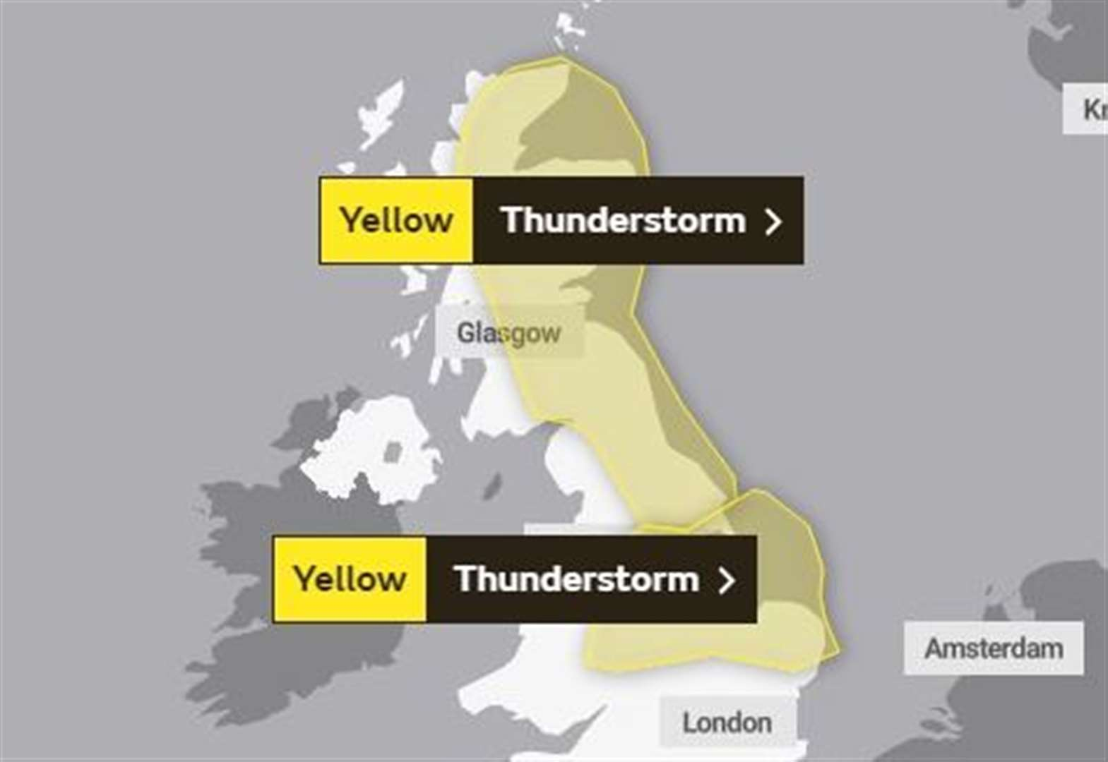 Weather warning in place as thunderstorms expected to hit Suffolk today