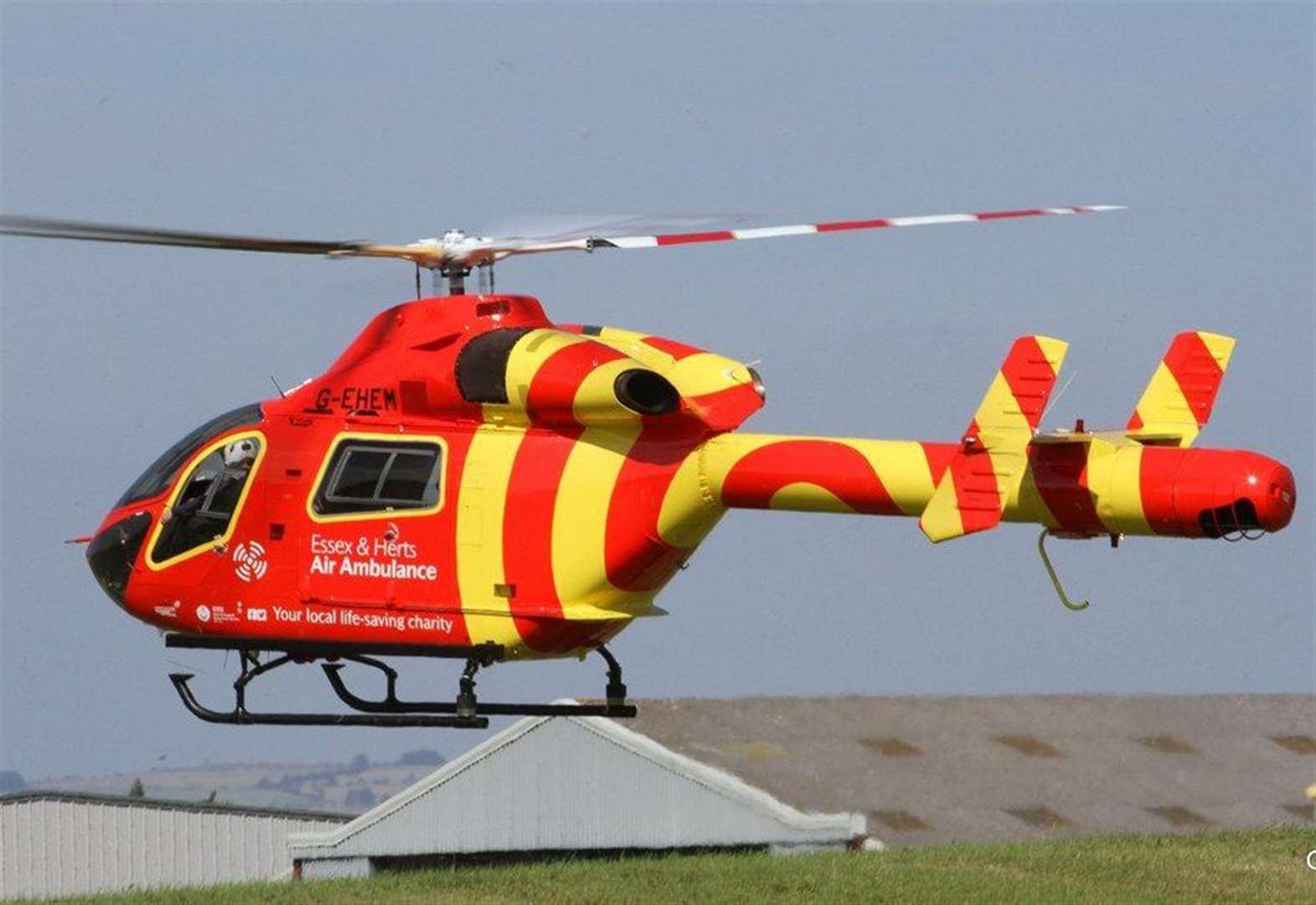 Air ambulance flies to the rescue in Haverhill after driver taken ill at the wheel