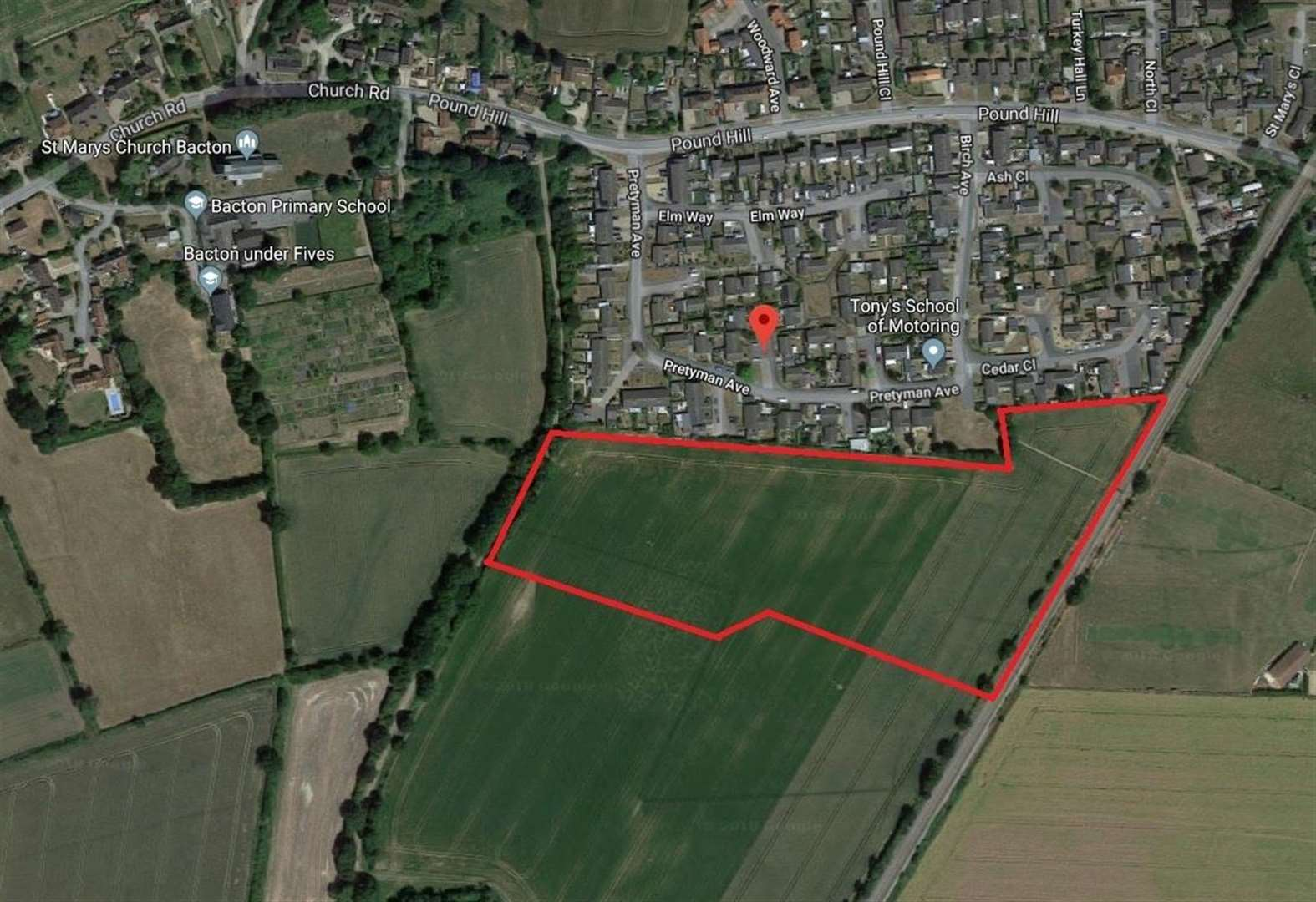 Plans lodged for 100 new homes in Bacton
