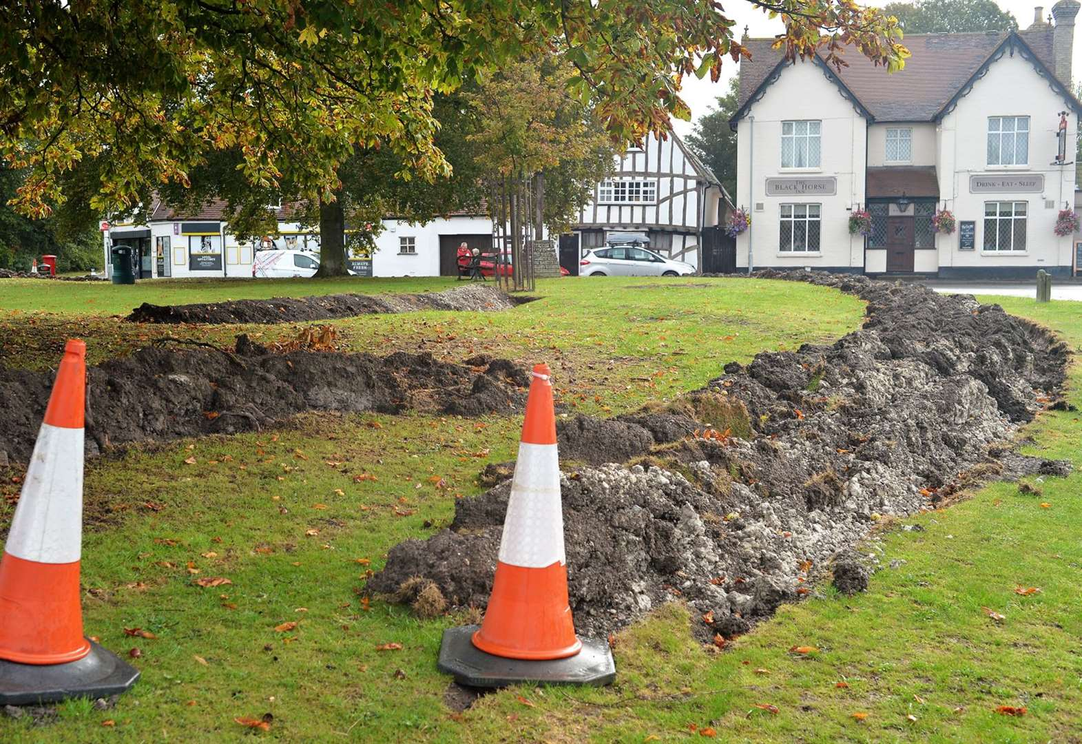 Swaffham Bulbeck digs trenches in village green to stop travellers