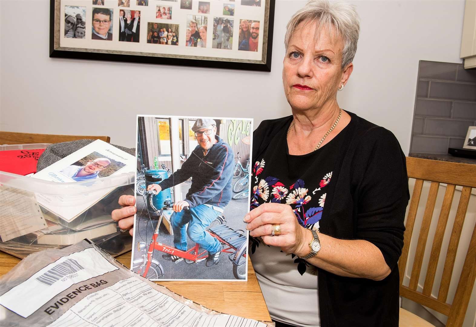 Mother's heartbreak as precious items belonging to dead son are stolen