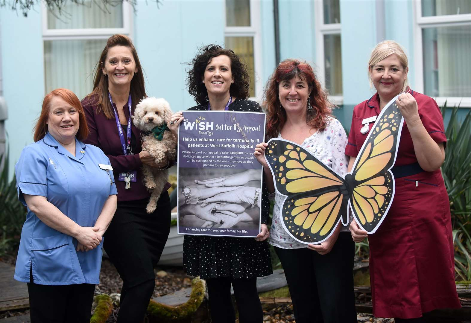 Butterfly Appeal at West Suffolk Hospital receives surprise £7,500 donation