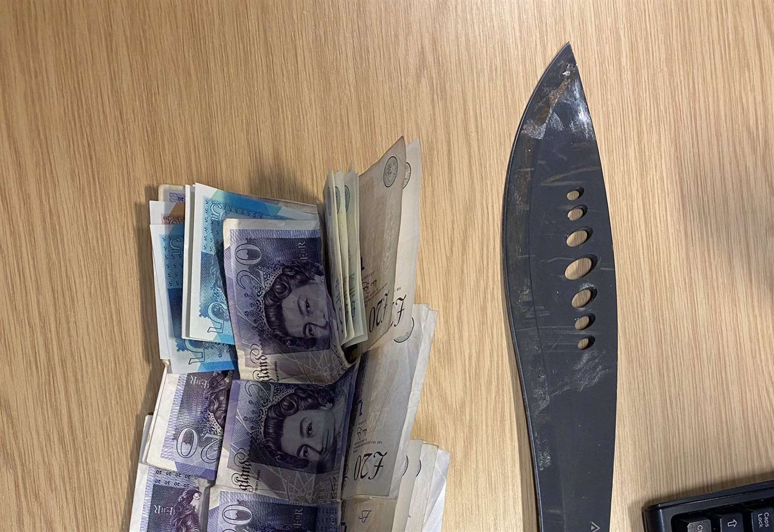 Youth, 17, arrested in Bury after knife and cash found