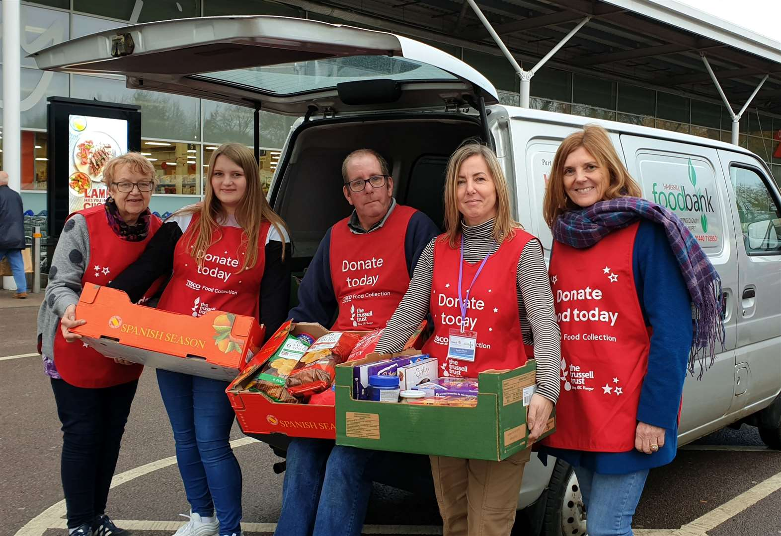 Generosity to foodbank collection was 'overwhelming'