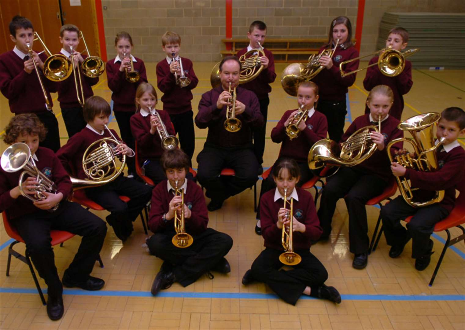 NOSTALGIA: Pupils bold as brass with masterclass