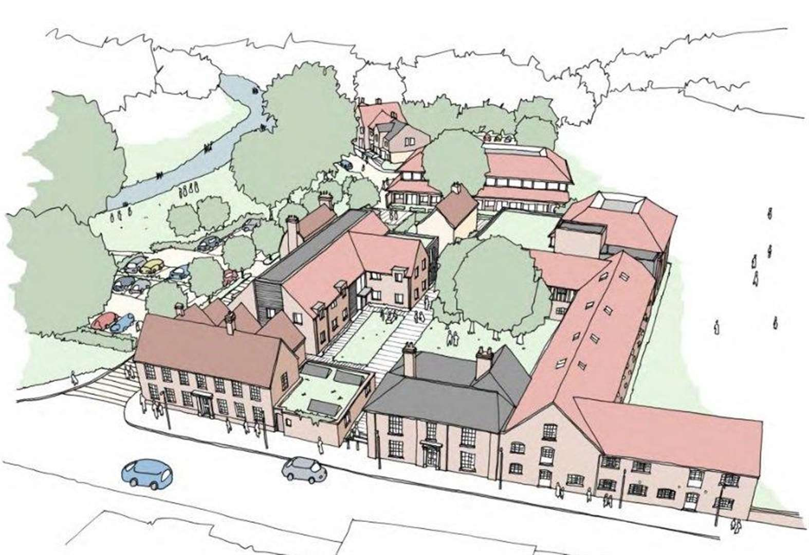 Babergh council votes to draw up plans to turn former Hadleigh HQ into 58 homes