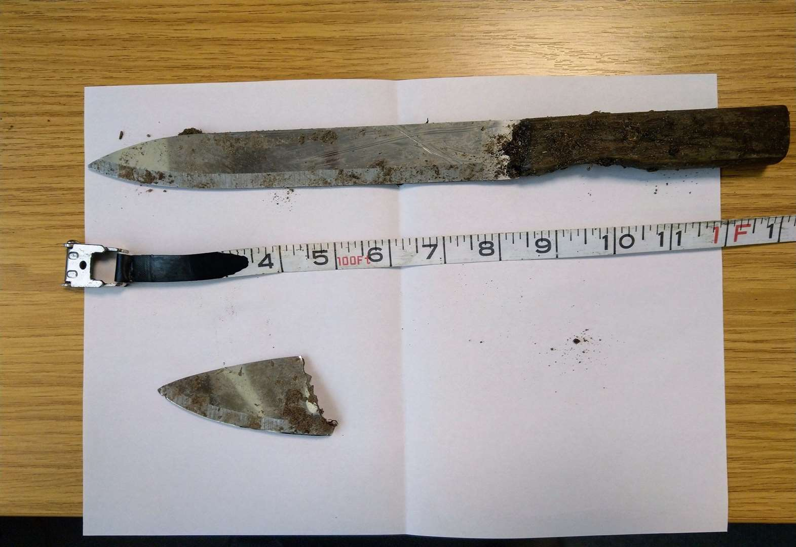 Mother and son discover knives in Newmarket playing field