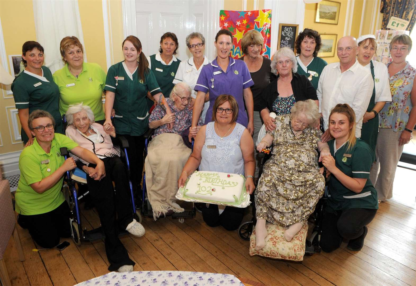 Triple celebration as Jean, Kathleen and Marguerite turn 102
